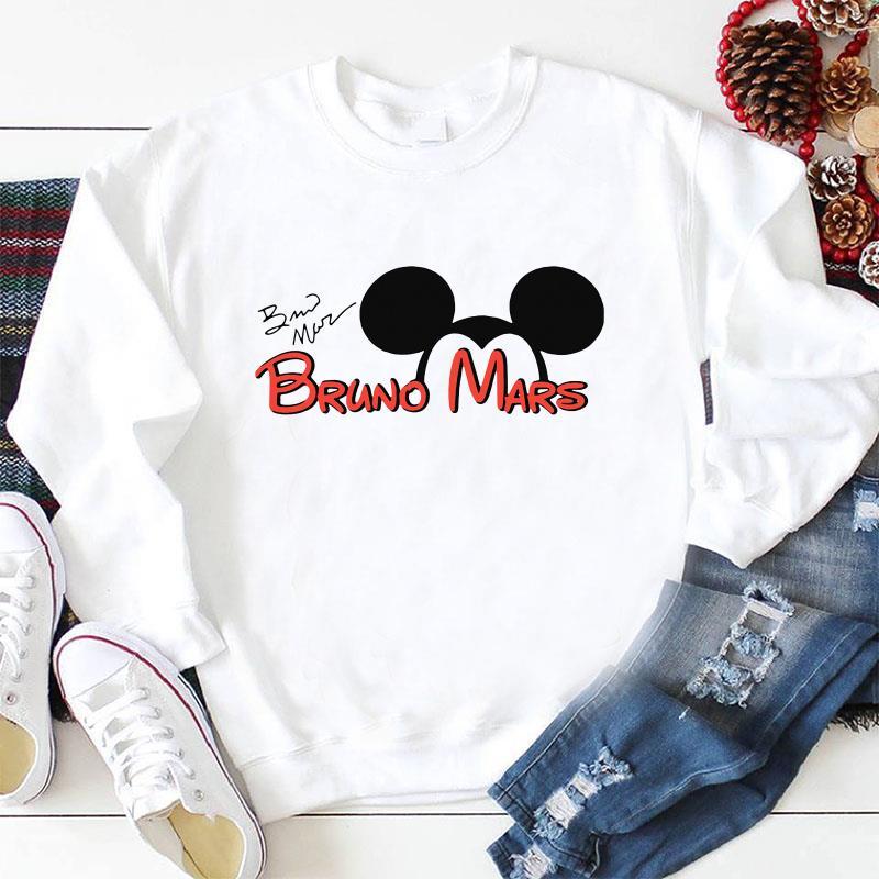 Bruno Mars signature Mickey Disney t-shirt