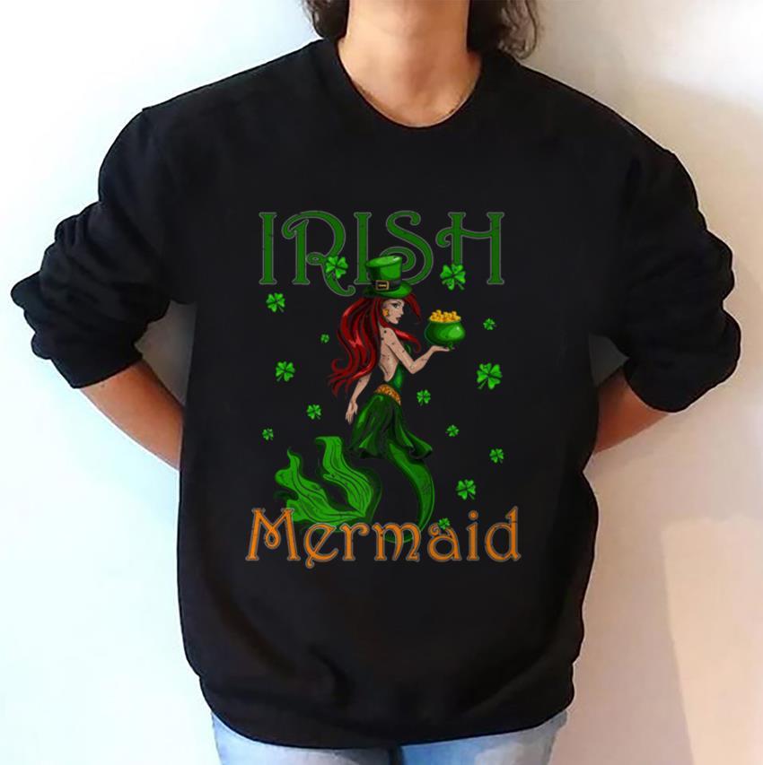Irish Mermaid happy Patrick day t-shirt