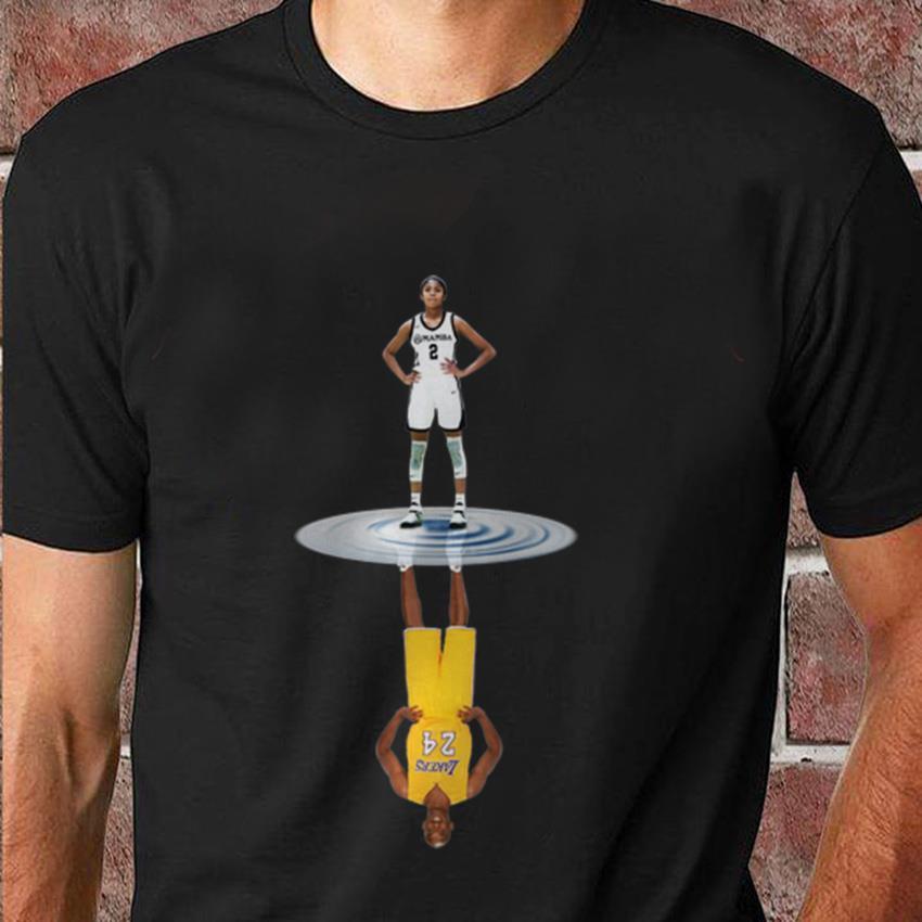 Kobe Gianna and Kobe Bryant water reflection t-shirt