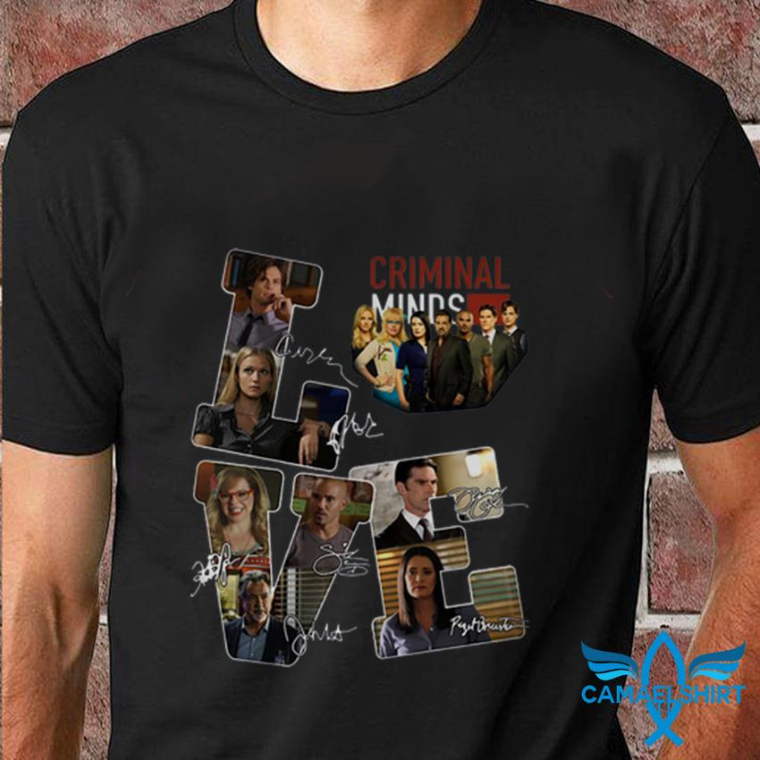 Love Criminal Minds all character signatures t-shirt