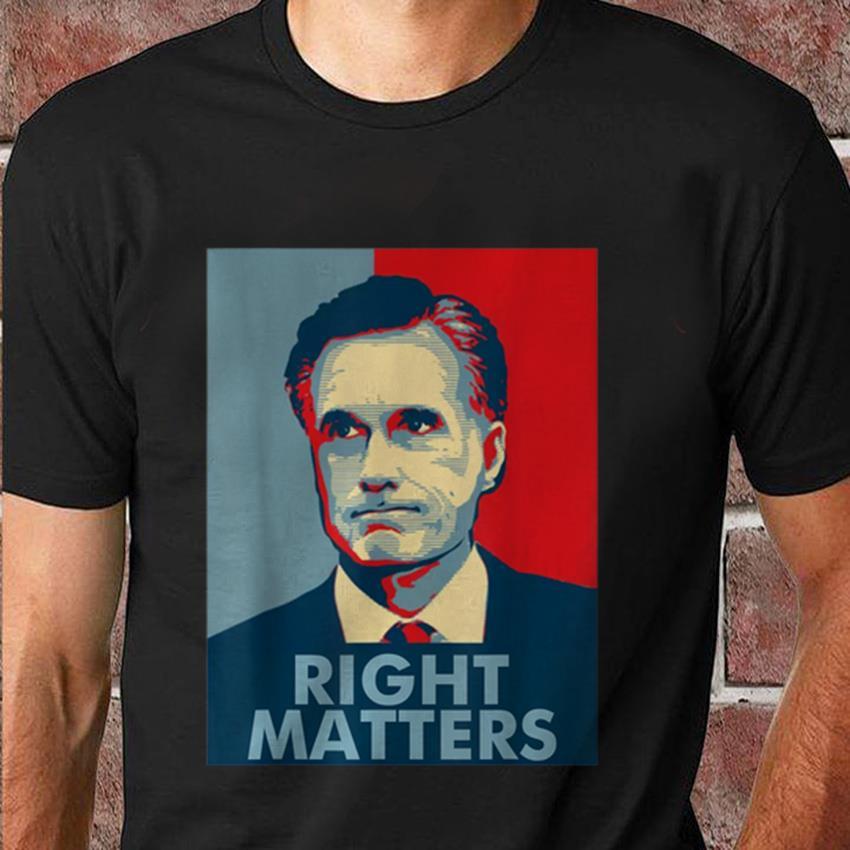 Mitt Romney 2020 right matters American president t-shirt