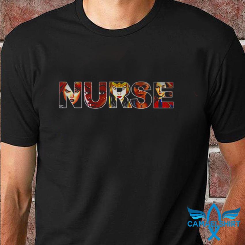 Nurse Marvel women superheroes t-shirt