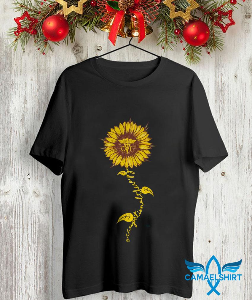 Occupational therapy sunflower nurse t-shirt