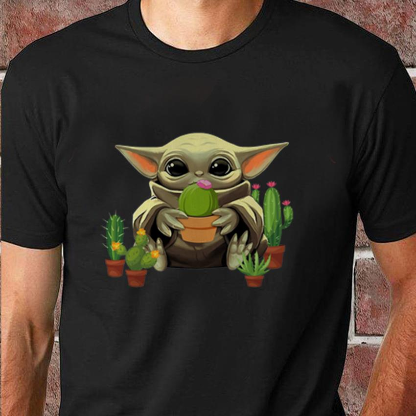 The Mandalorian Baby Yoda Hugs Cactus T Shirt