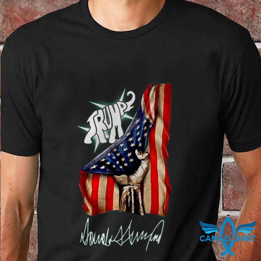 Trump elephant American flag signature t-shirt