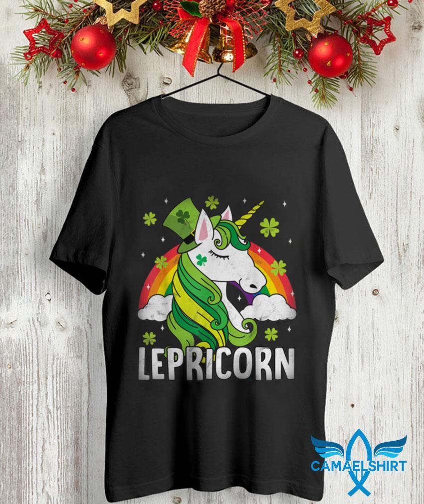 Unicorn st Patricks day Lepricorn girl women costume t-shirt