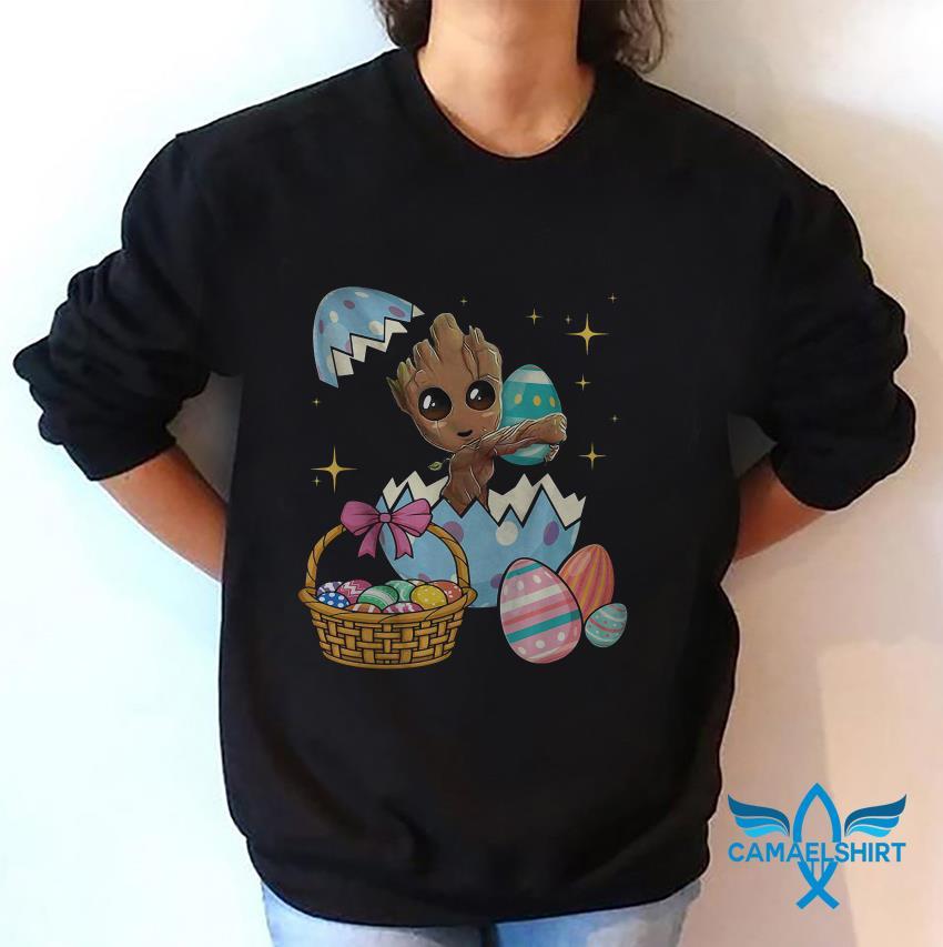 Happy Groot Easter egg basket sweat shirt
