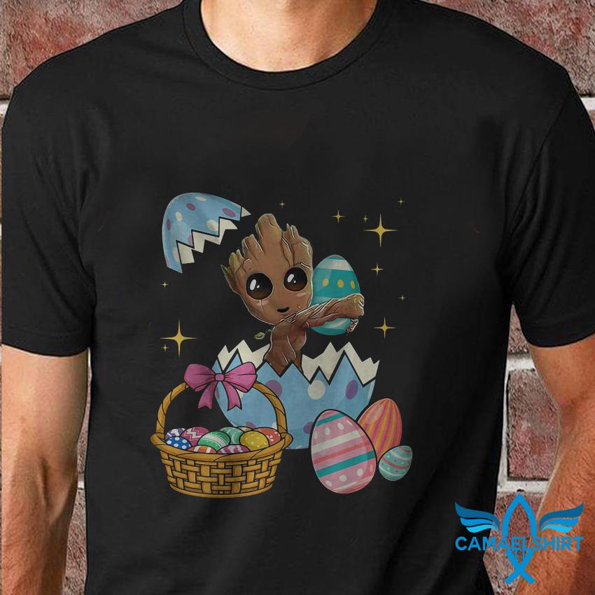 Happy Groot Easter egg basket t shirt