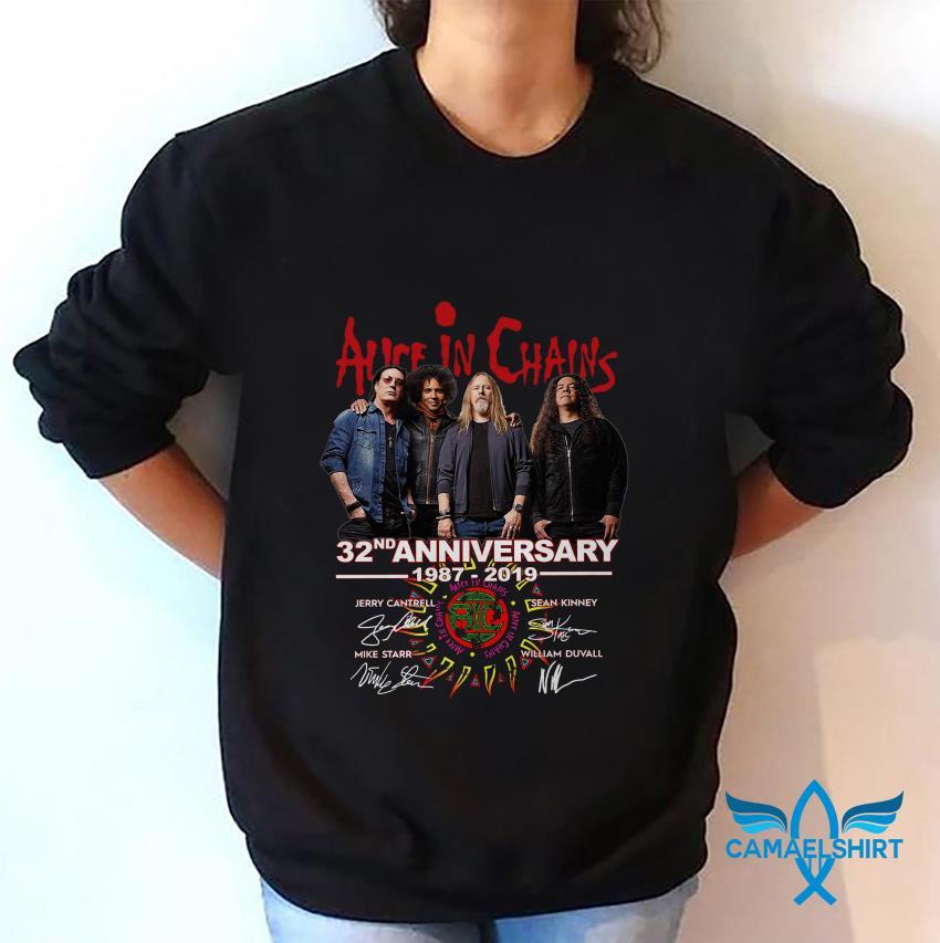 Alice In Chains 32nd anniversary 1987-2019 signature sweat shirt
