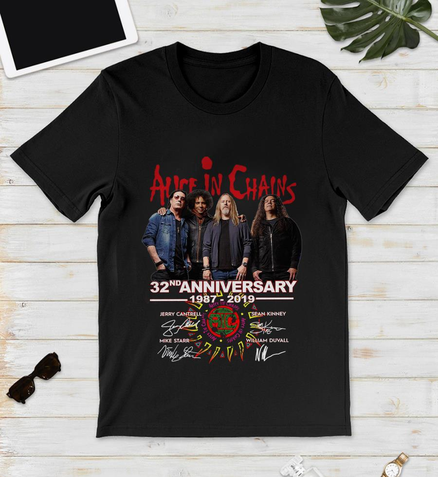 Alice In Chains 32nd anniversary 1987-2019 signature unisex shirt