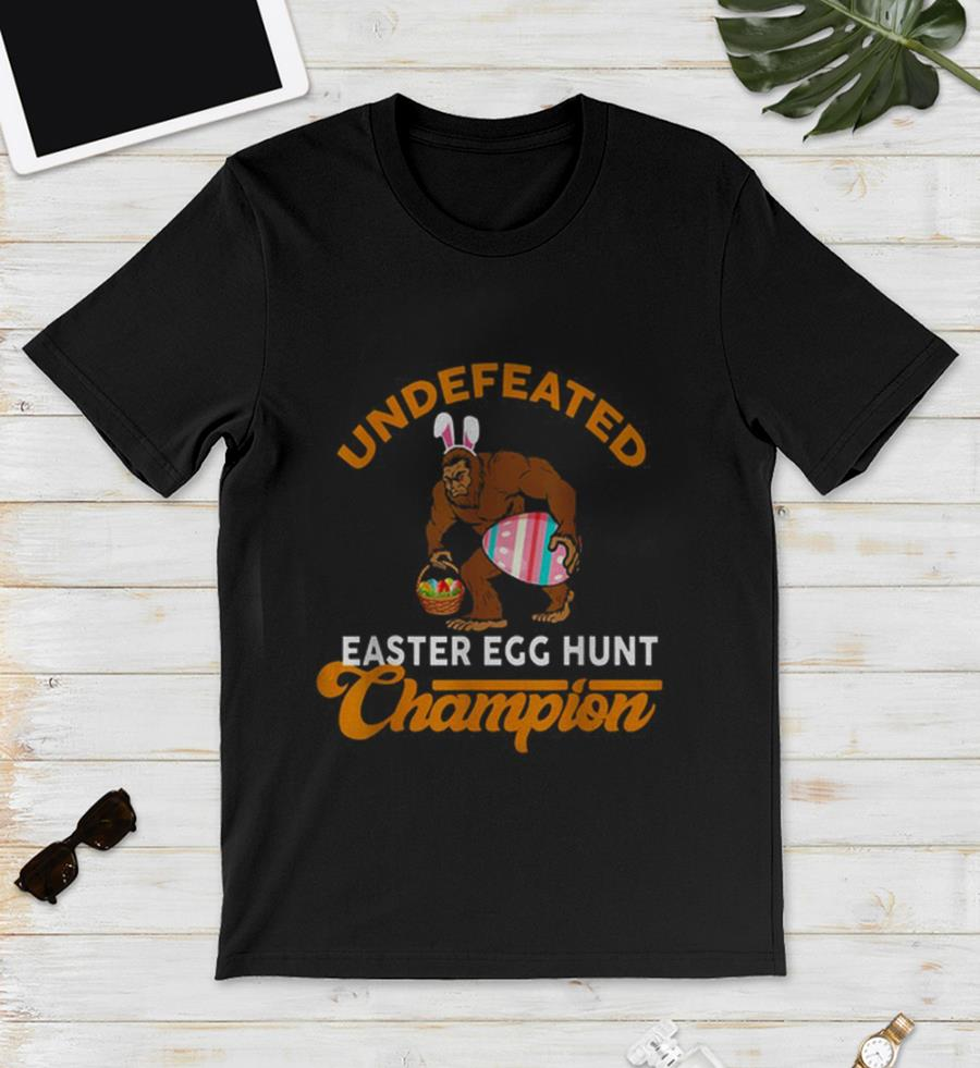 Bigfoot undefeated Easter egg hunt champion unisex shirt