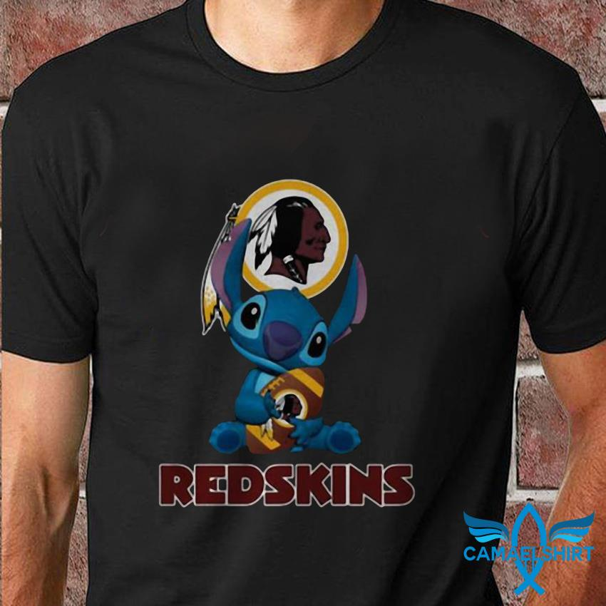 Disney Stitch hug Washington Redskins t shirt