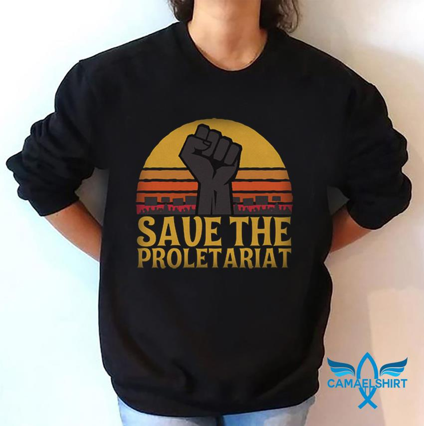 Fighting save the proletariat sunset sweat-shirt