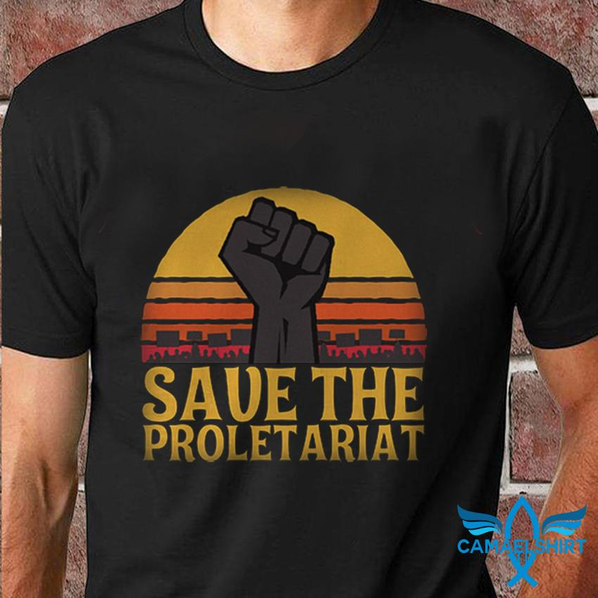 Fighting save the proletariat sunset t-shirt