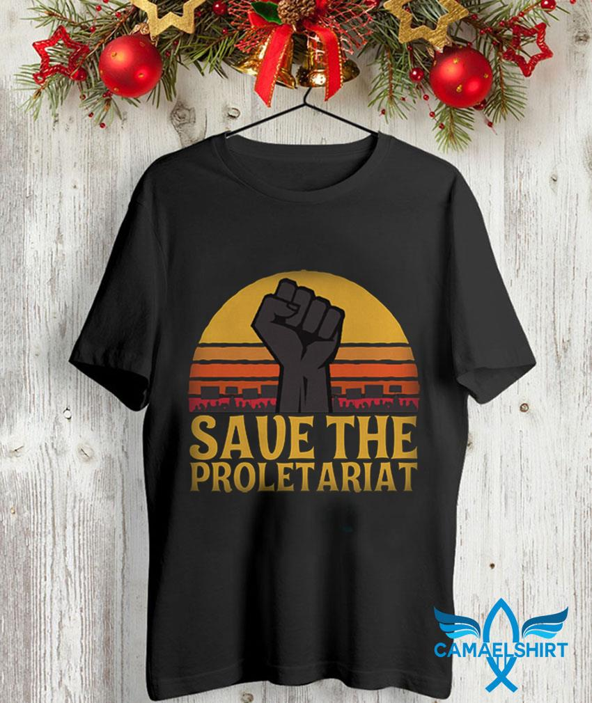 Fighting save the proletariat sunset unisex-shirt