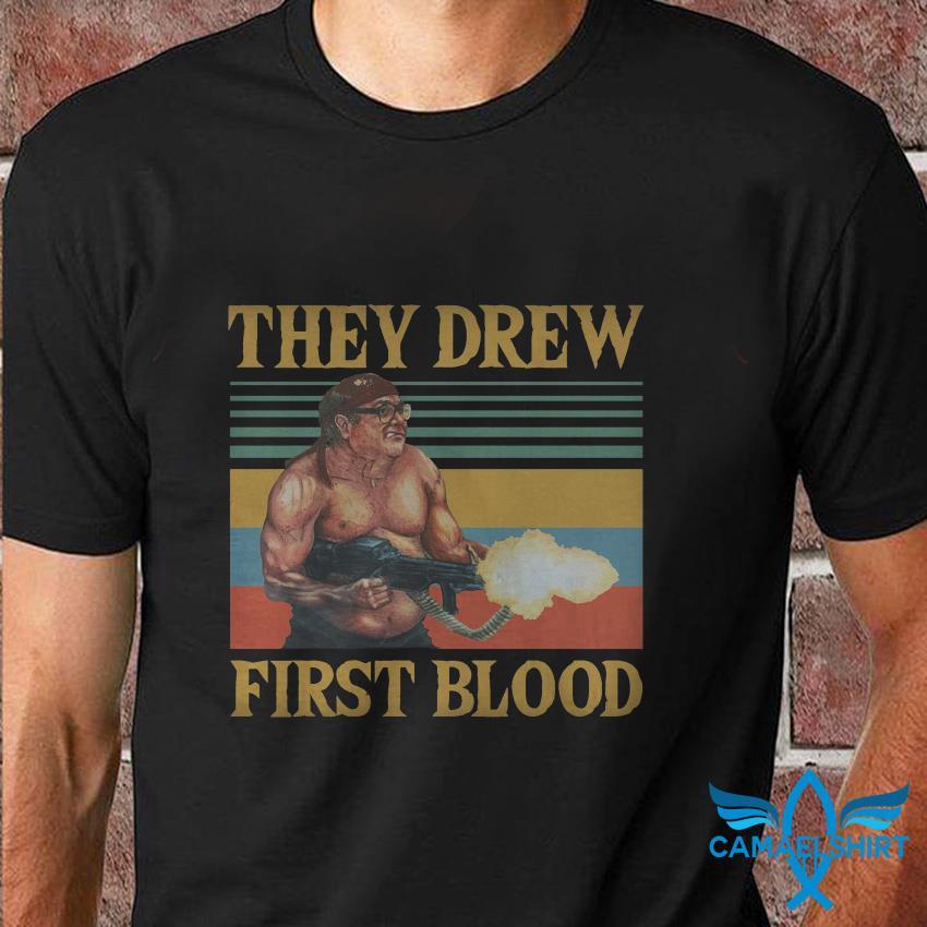 Frank Reynolds they drew first blood vintage t shirt