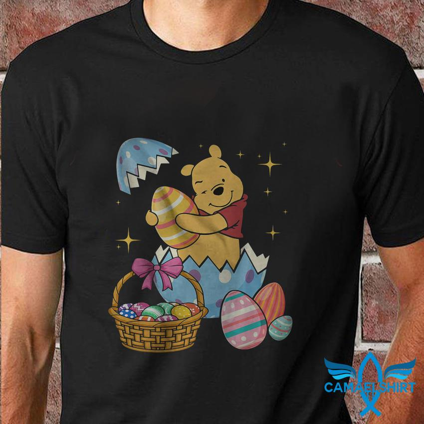 Happy Pooh Easter egg basket t shirt