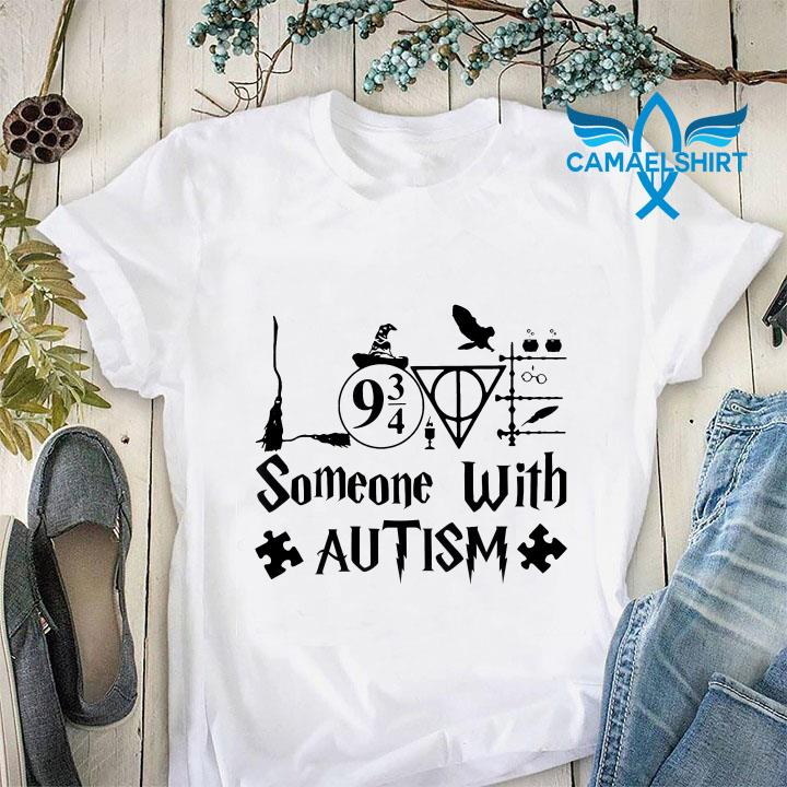 Harry Potter symbols love someone with autism t-shirt