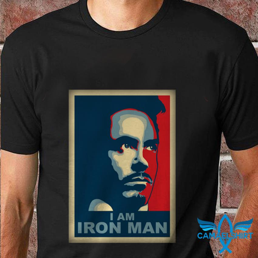 Hope poster Tony Stark I am Iron Man t shirt
