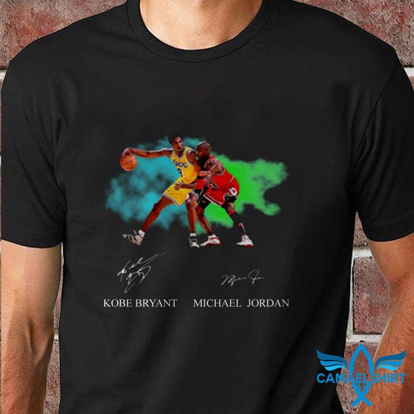 Kobe Bryant vs Michael Jordan game signature t-shirt