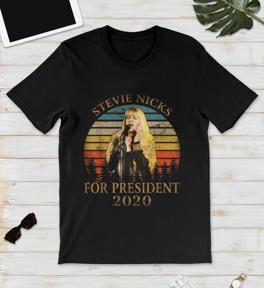 Vintage retro Stevie Nicks for president 2020 unisex shirt