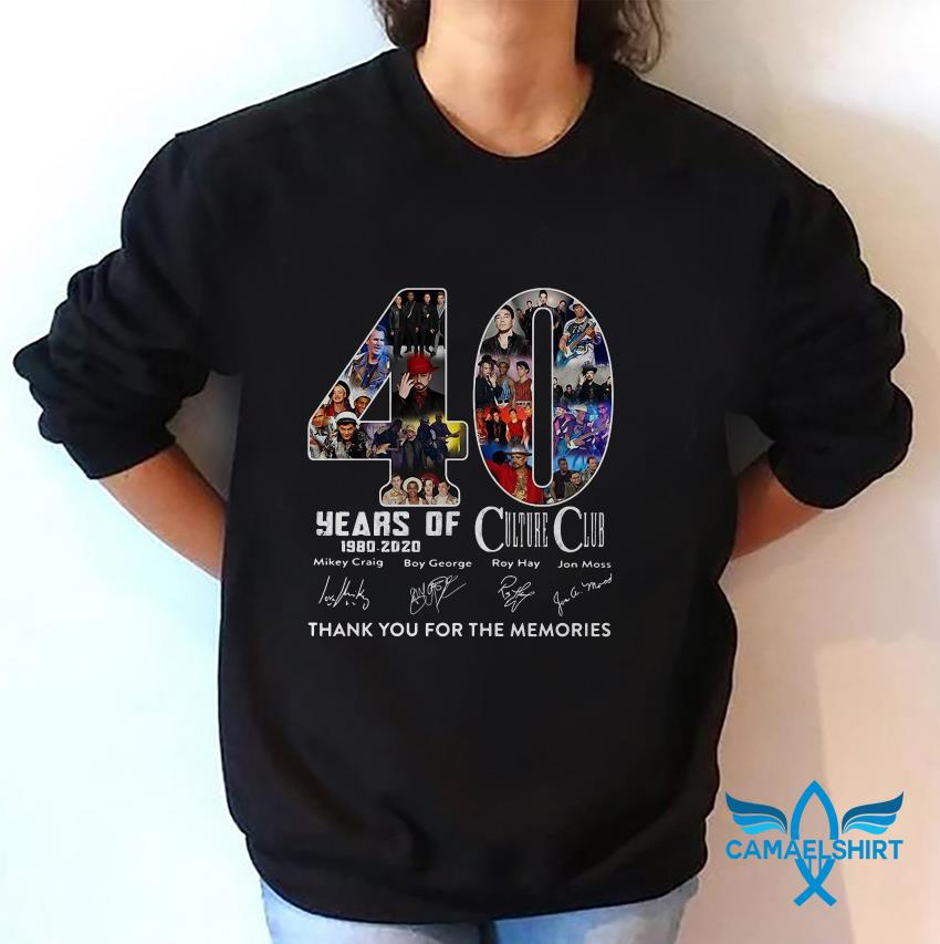 40 Years Of Culture Club anniversary 1980-2020 the memories sweat shirt