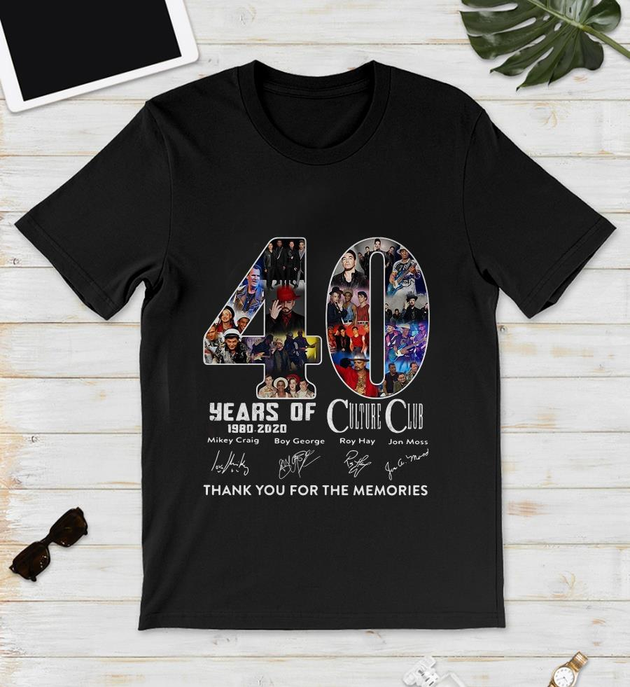 40 Years Of Culture Club anniversary 1980-2020 the memories unisex shirt