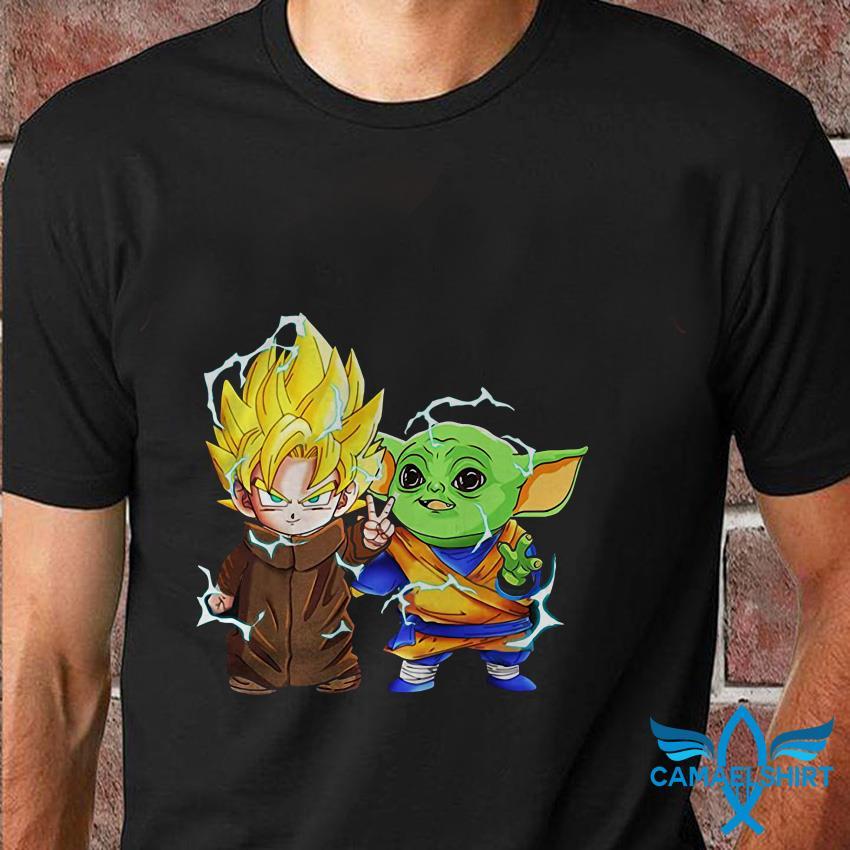 Baby Yoda and Goku best friends Star Wars t shirt