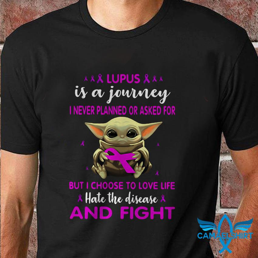 Baby Yoda lupus is a journey breast cancer t shirt