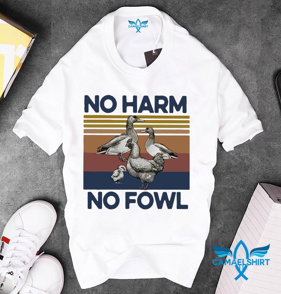 Basketball quote no harm no fowl vintage unisex t-shirt