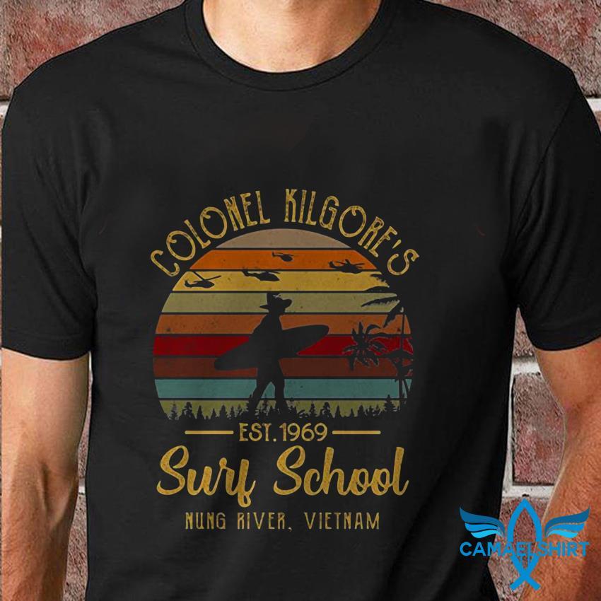 Colonel kilgores surf school est 1969 vintage t shirt