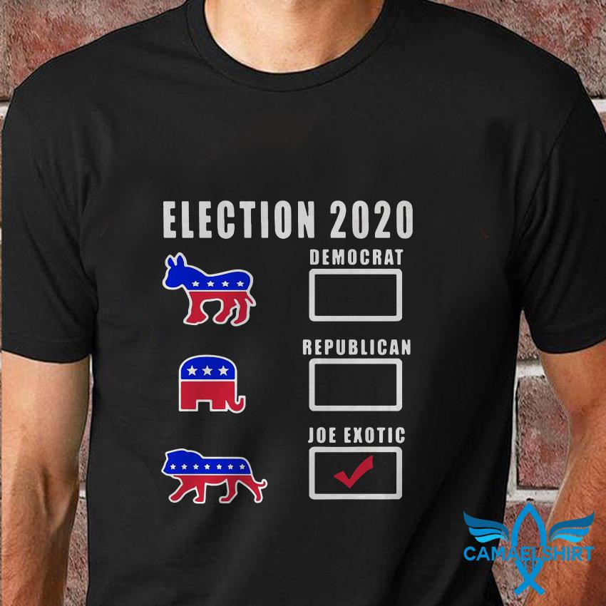 Election 2020 Democrat Republican Joe Exotic t shirt