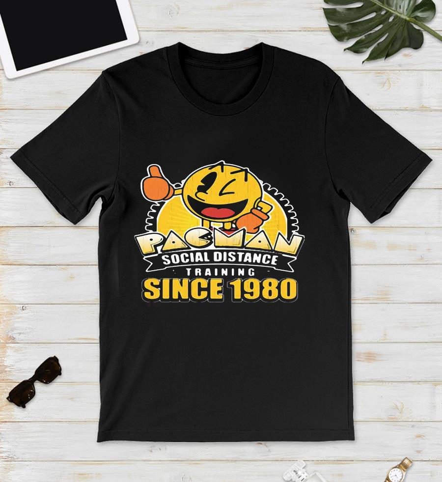 Funny Pacman social distance training since 1980 unisex t-shirt