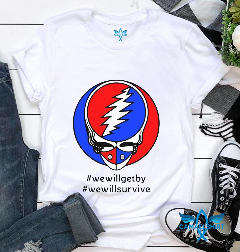 Grateful Dead face we will get by we will survive quaratine 2020