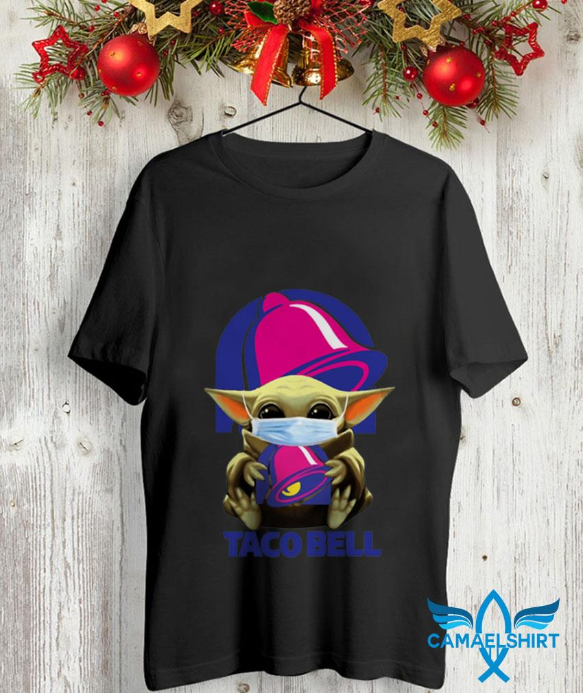 Mandalorian Baby Yoda mask hug Taco Bell unisex shirt