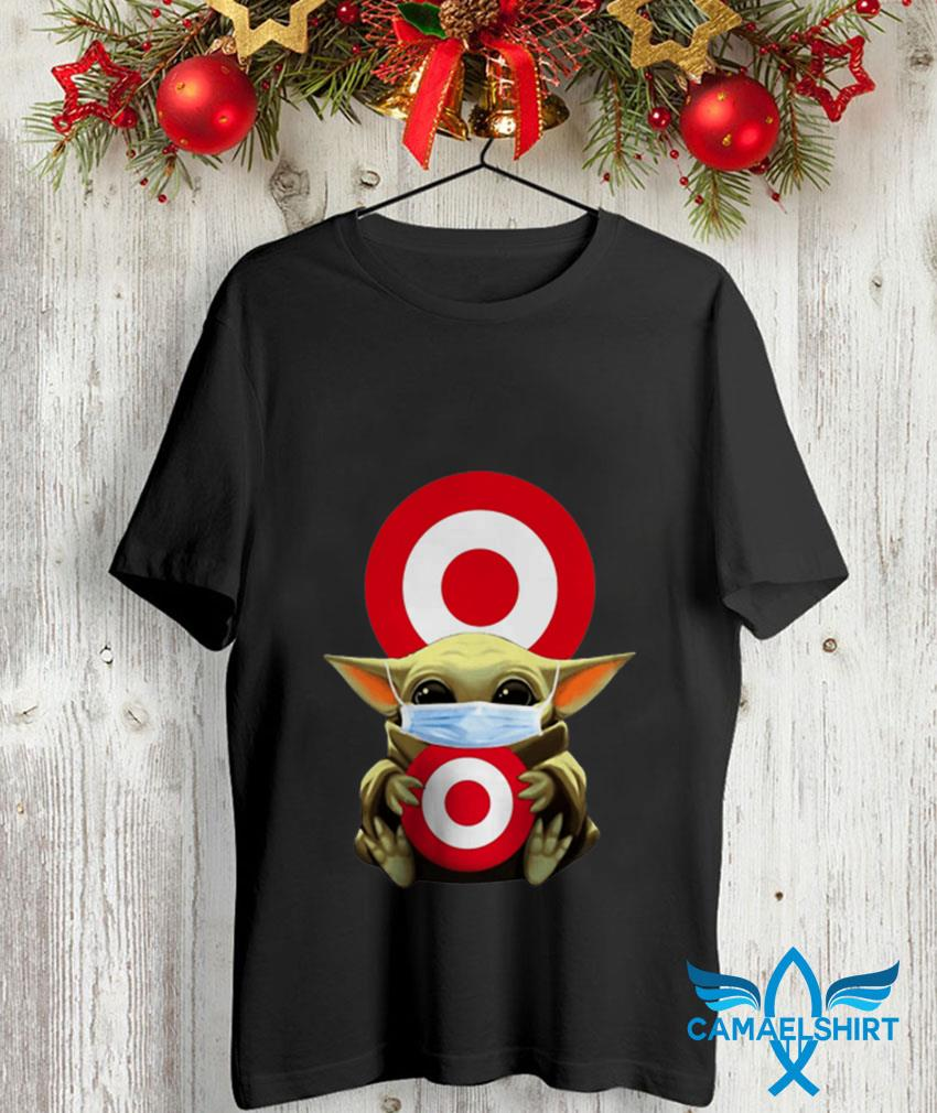 Mandalorian Baby Yoda mask hug Target Circle unisex shirt