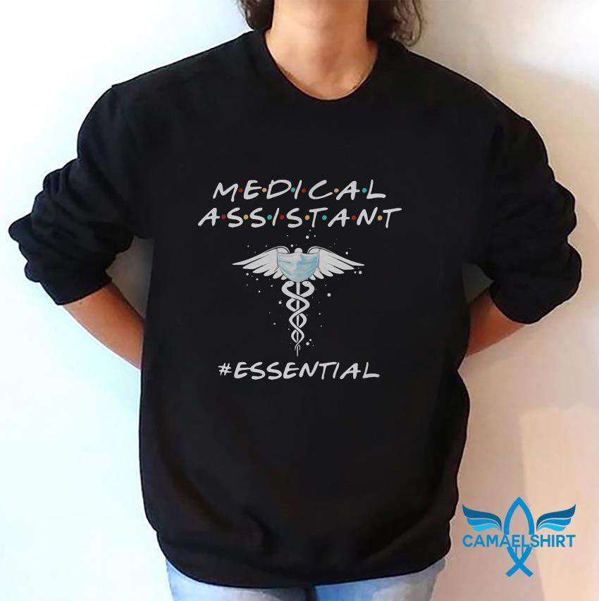 Medical assistant essential caduceus symbol sweat shirt