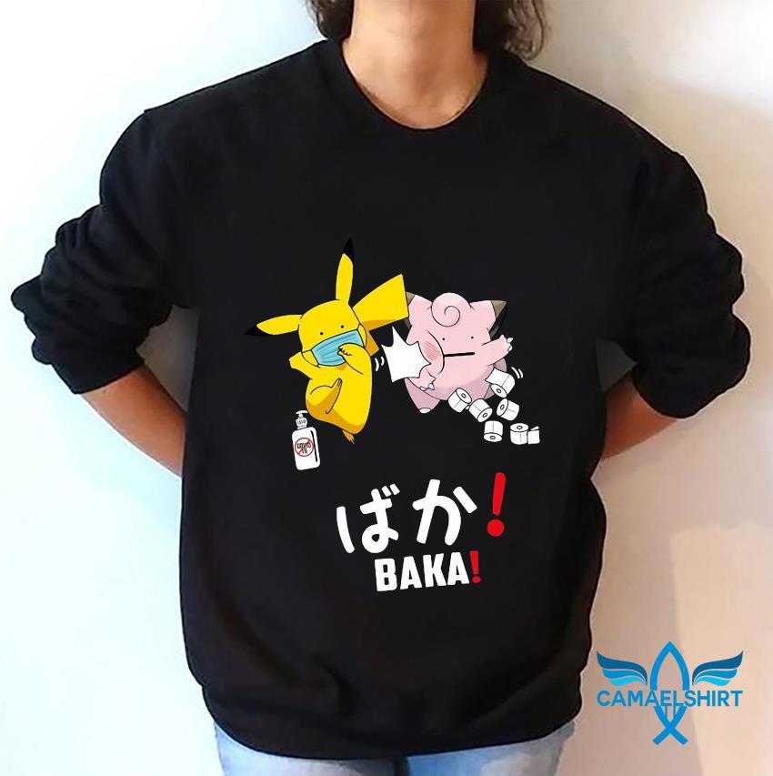Pikachu slap Jigglypuff baka funny sweatshirt