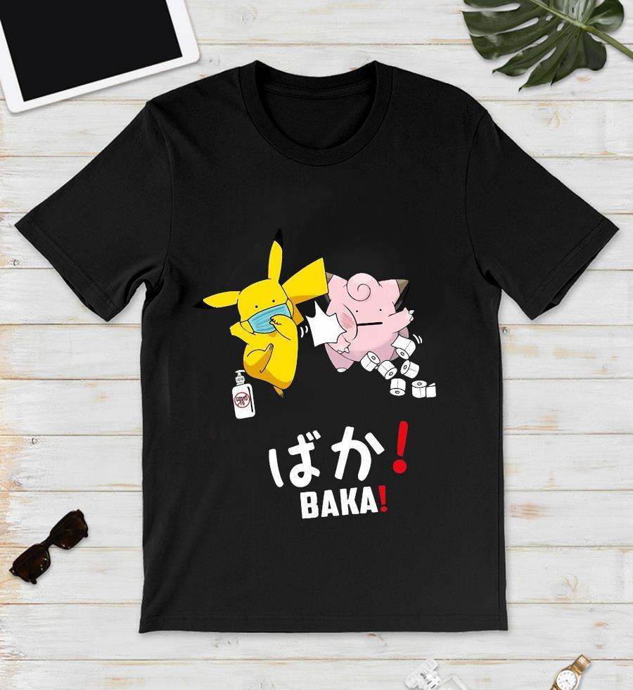 Pikachu slap Jigglypuff baka funny unisex t-shirt