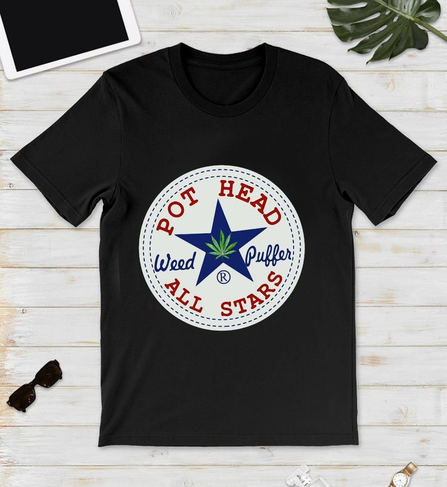 Pot head Weed Puffer all stars logo unisex t-shirt