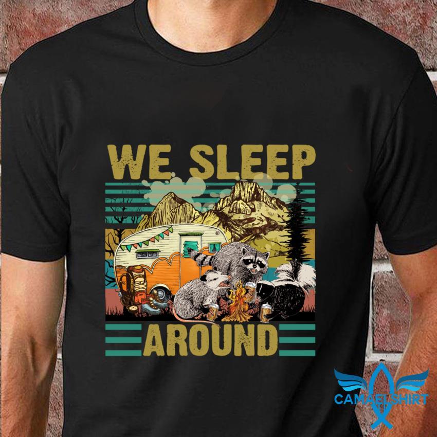 Retro Raccoon camping we sleep around