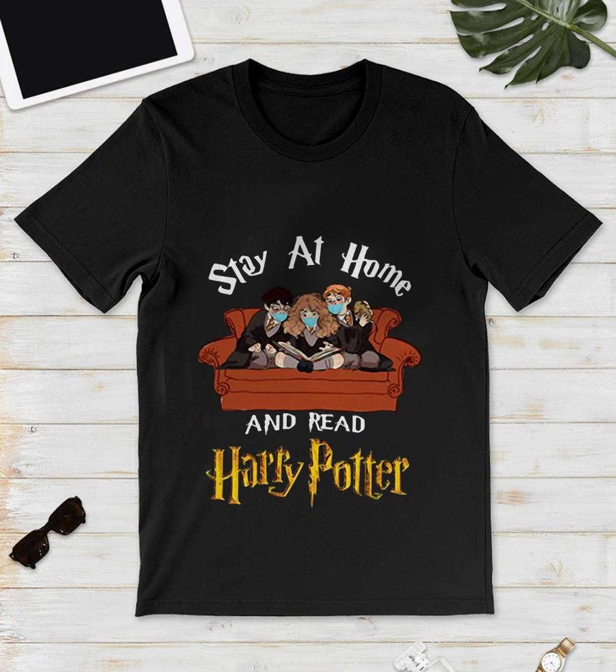 Ron Hermione stay at home and read Harry Potter unisex shirt