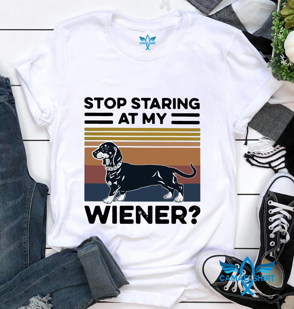 Stop staring at my Wiener dog vintage