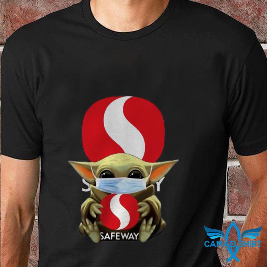 The Mandalorian Baby Yoda hug Safeway t shirt