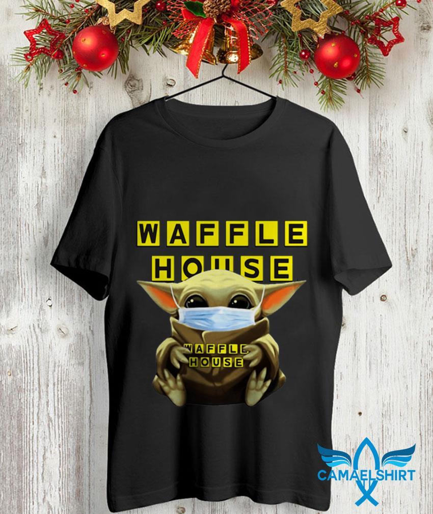 The Mandalorian Baby Yoda mask hug Waffle House unisex shirt
