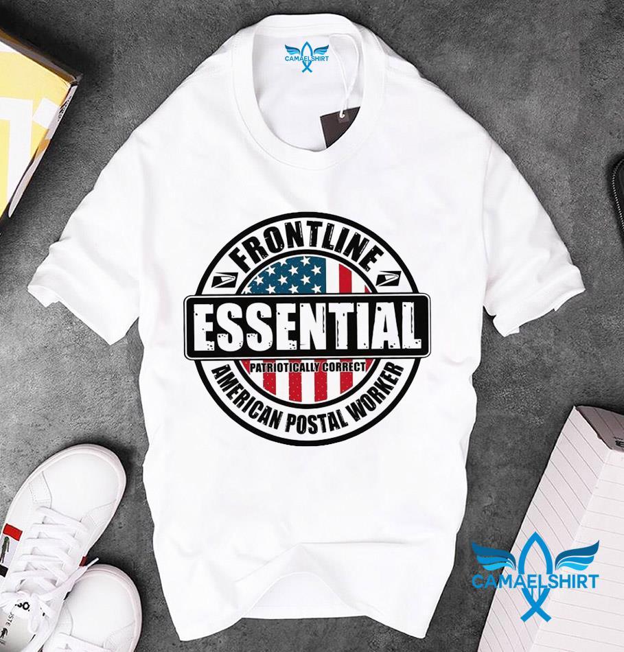 USPS frontline essential American postal worker unisex t-shirt
