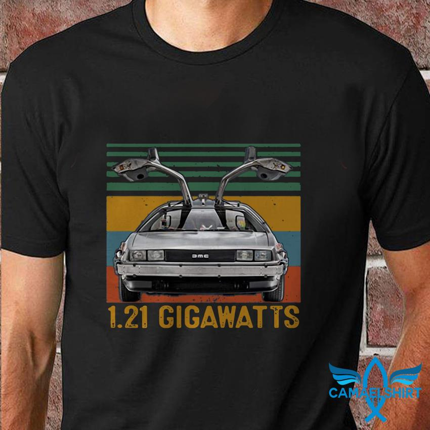 Vintage One Point 21 gigawatts back to the future t shirt
