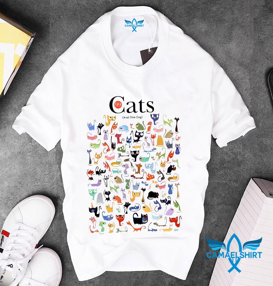 99 cats and one dog funny t-s unisex