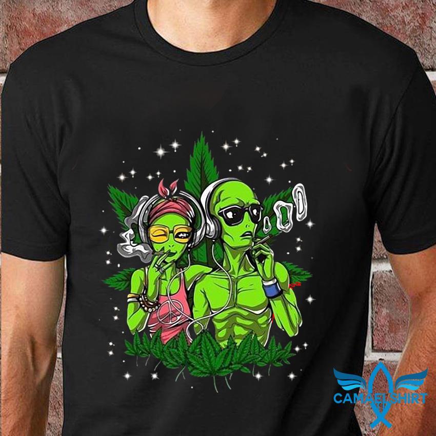 Alien smoking weed take me to your dealer t-shirt