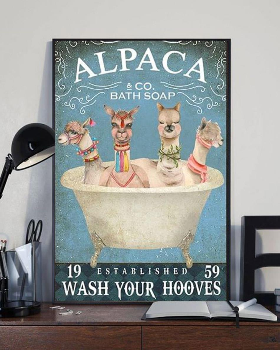 Alpaca bath soap wash your hooves poster canvas full size